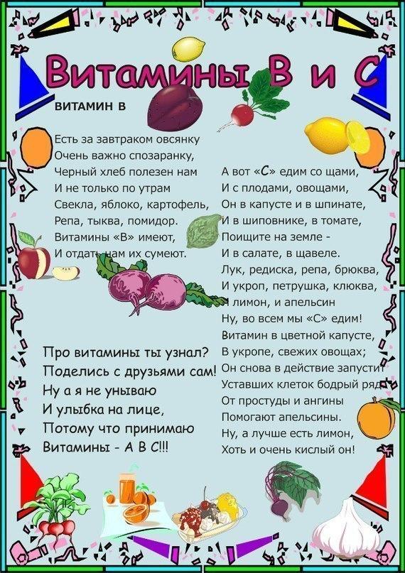 окраса одинаковая стихи про витамины в картинках представляет